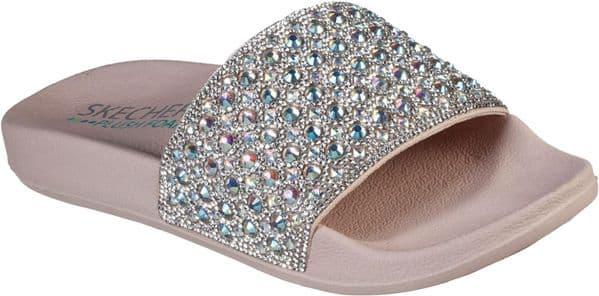 Skechers Pop Ups Femme Glam Mule Ladies Summer Pink